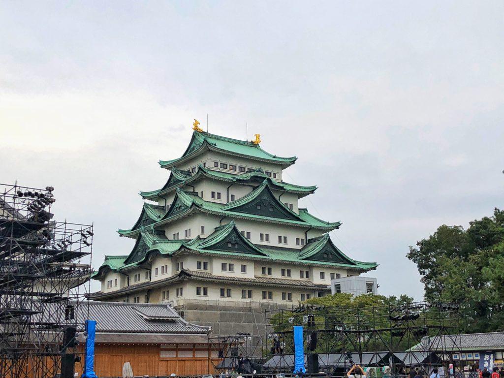 Huge castle in Nagoya in Japan