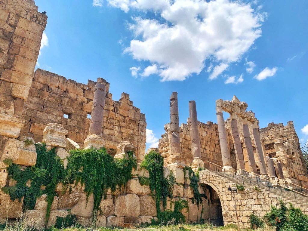 Roman ruins in Baalbek Lebanon