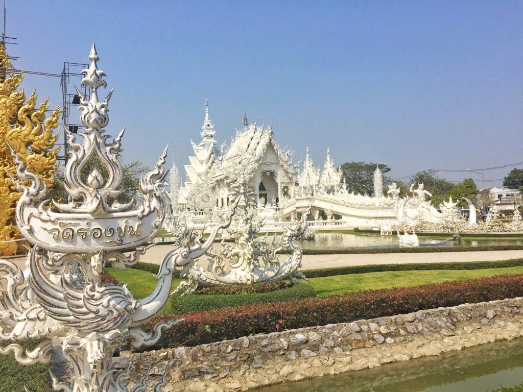 Wat Long Khum white temple in Chiang Rai