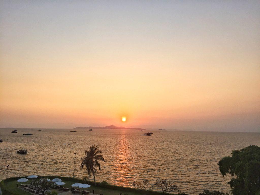 Sunset over Pattaya Thailand