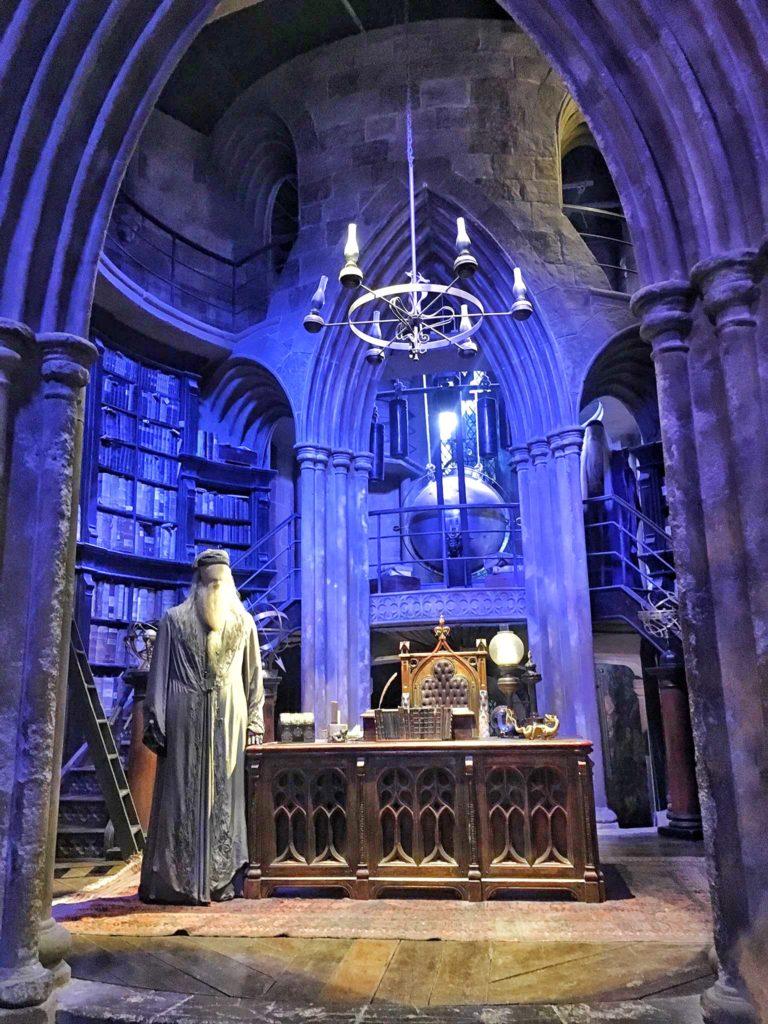 Dumbledore in his office at the Warner Bros Studios in London UK