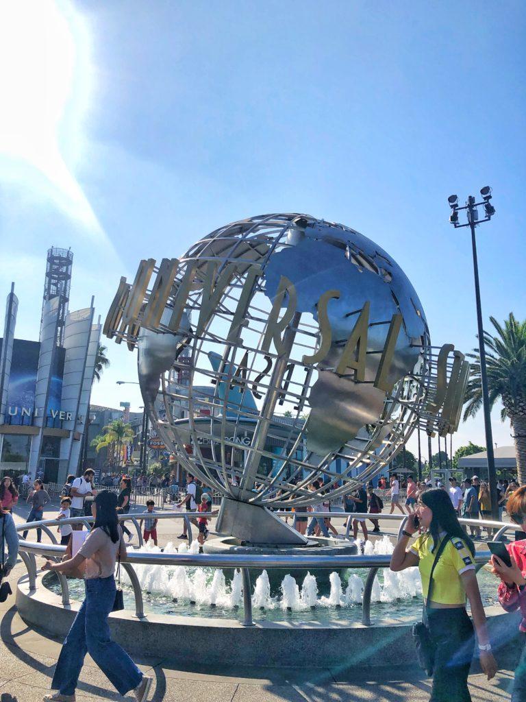 Universal studios fountain in Los Angeles USA